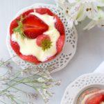 Trifle aux fraises et mousse de lemon curd