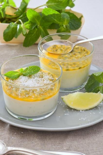Blanc-manger coco / fruits de la passion