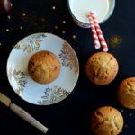 Muffins à la crème de marrons, marrons glacés et rhum