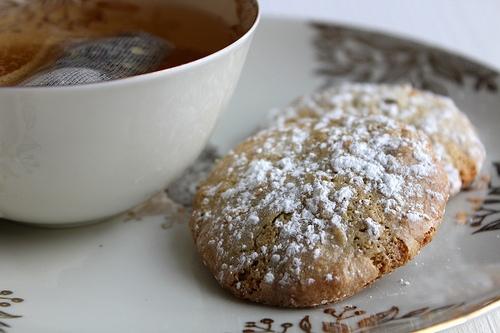 Amaretti au thé matcha
