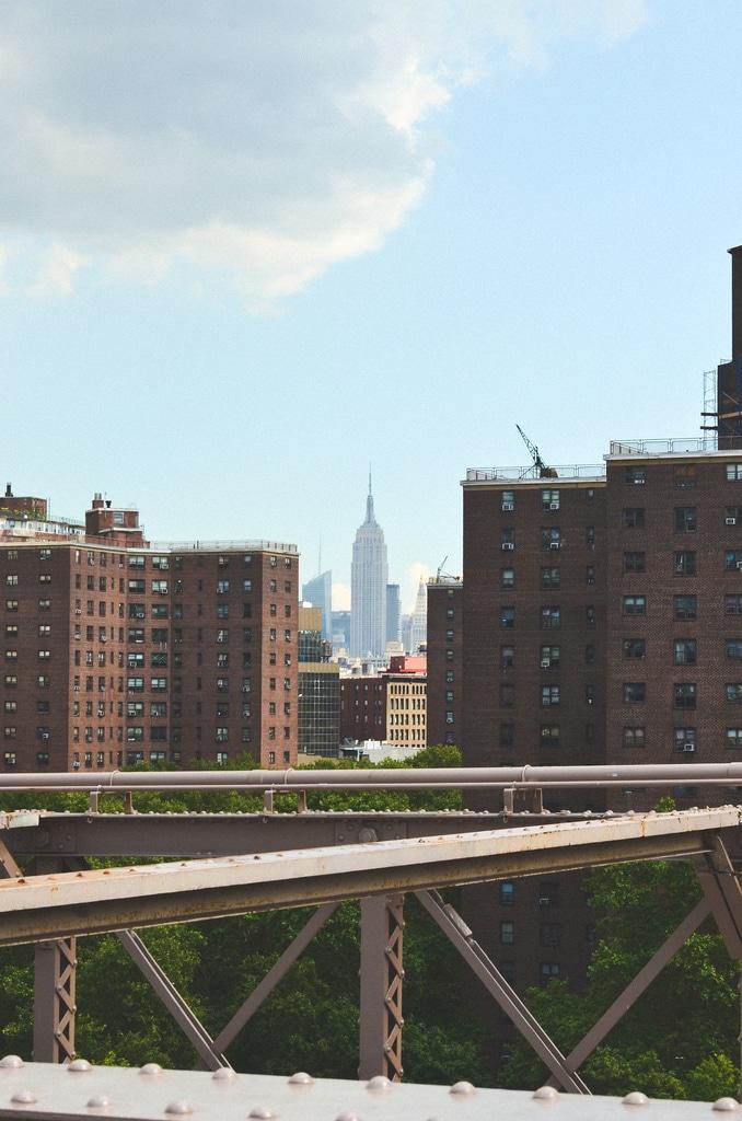 New York, view from the Brooklyn Bridge