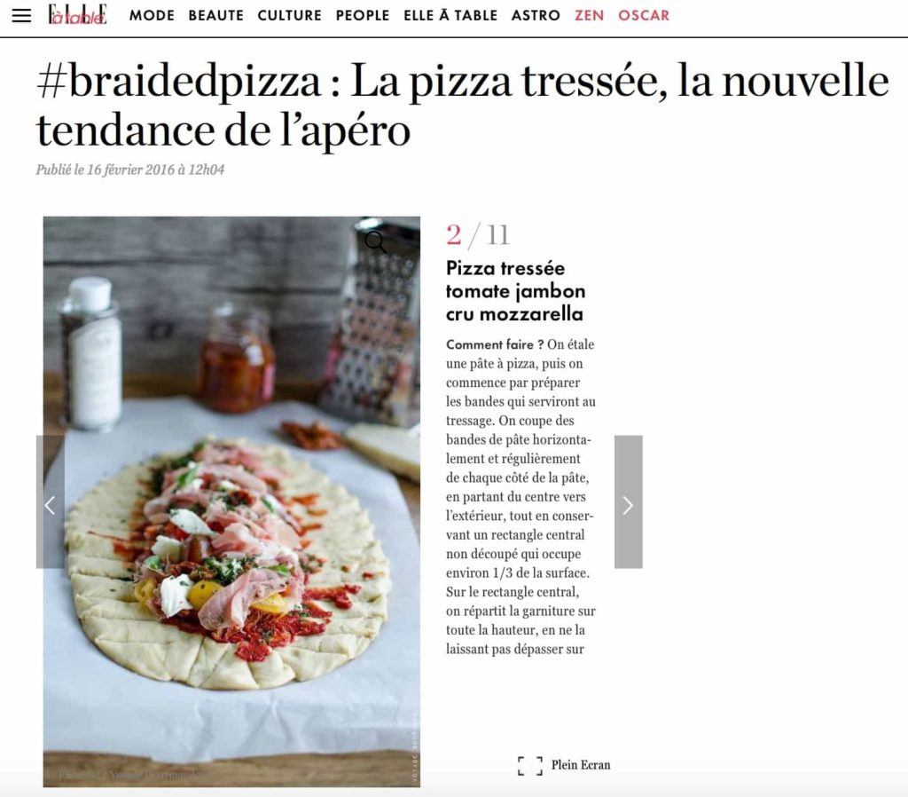 Elle à table - braidedpizza