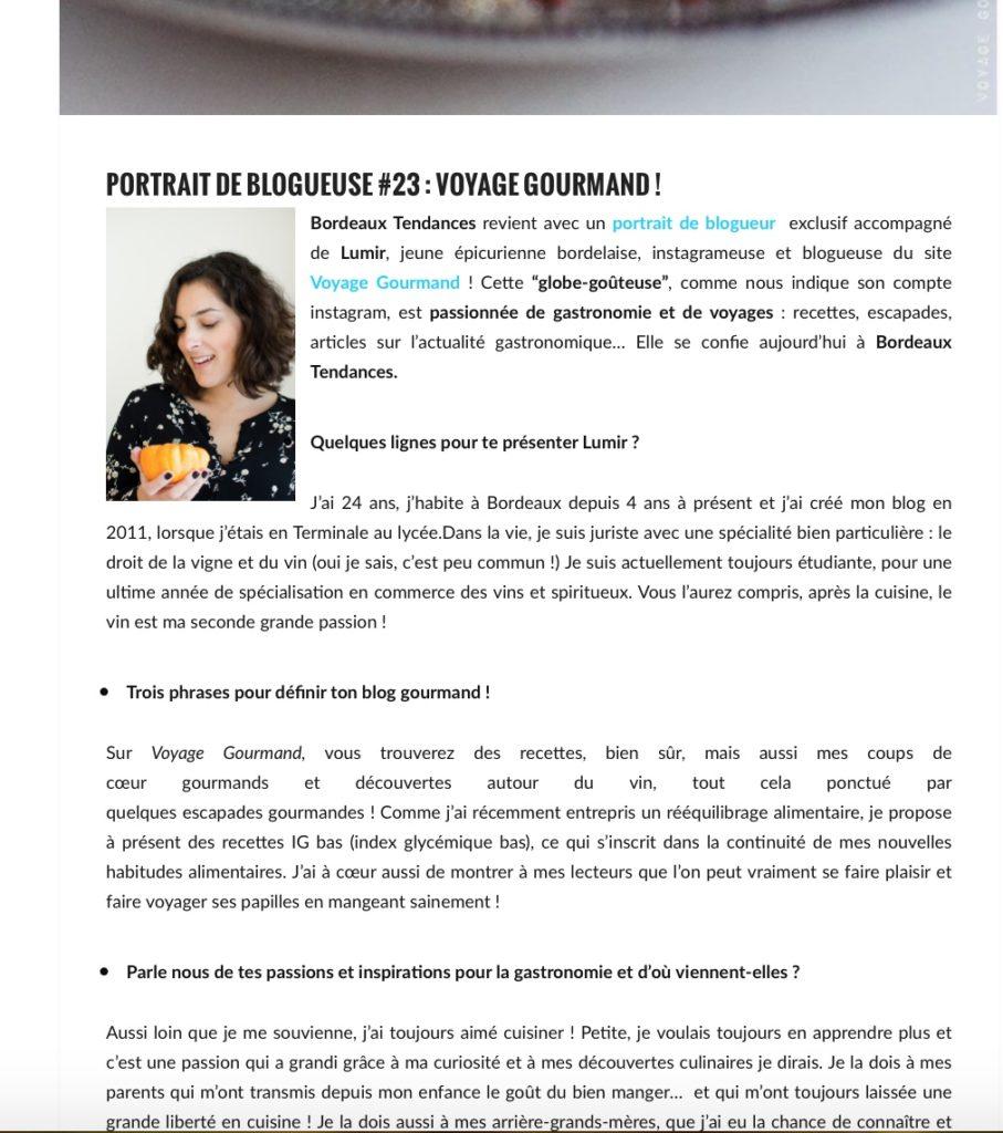Portrait de Blogueurs #23 Bordeaux Tendances
