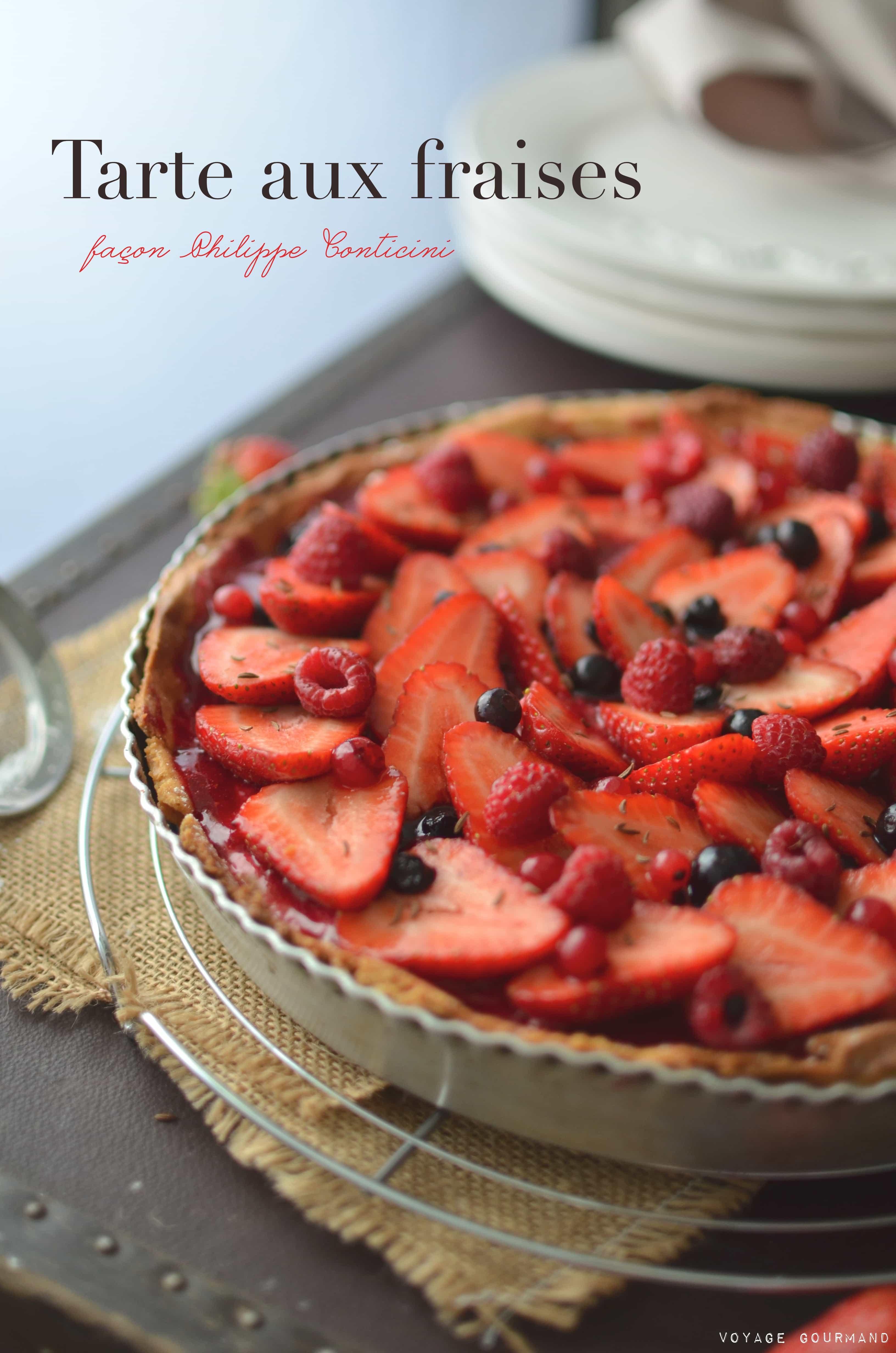 tarte aux fraises et autres fruits rouges de philippe conticini. Black Bedroom Furniture Sets. Home Design Ideas
