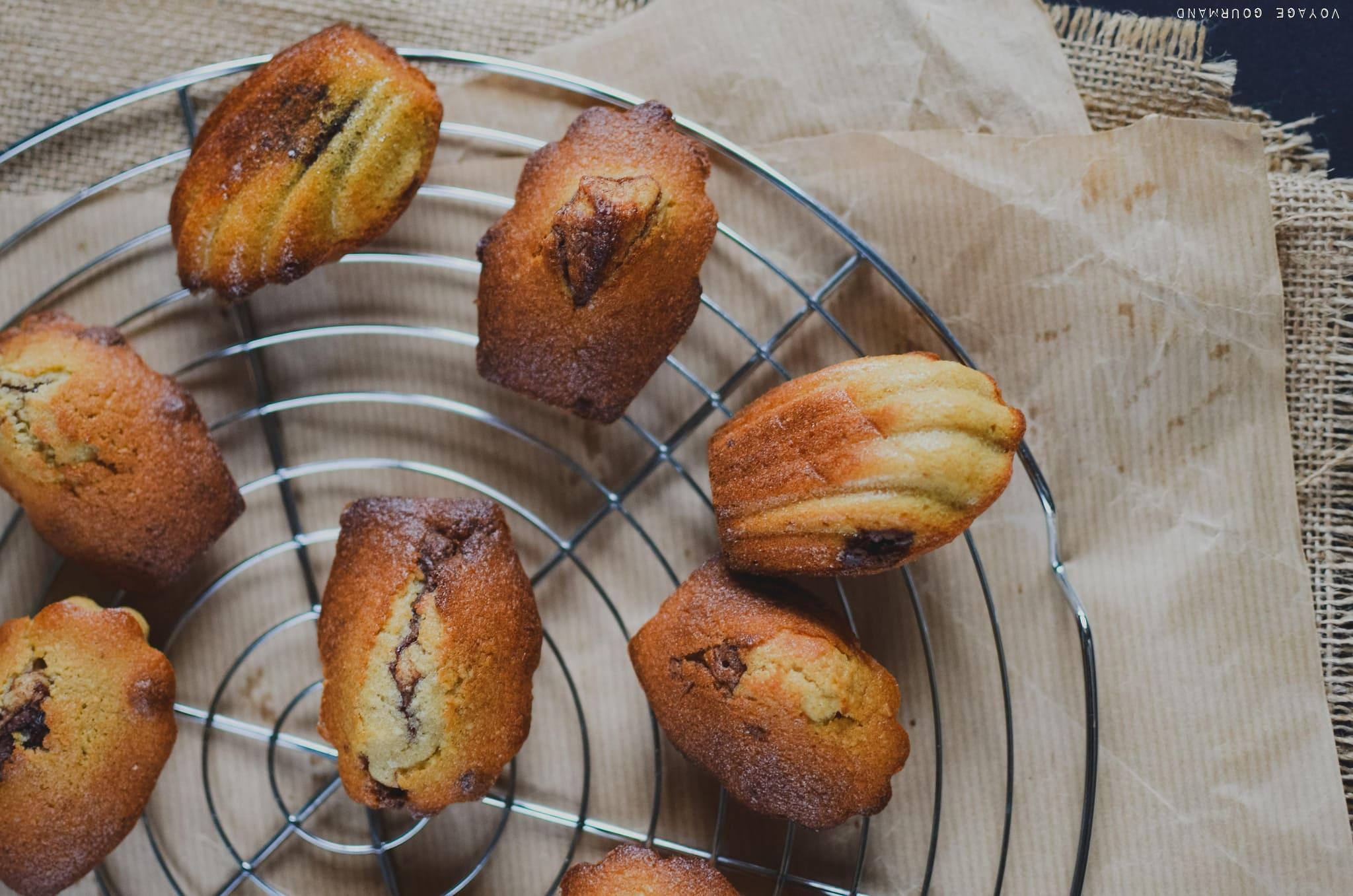 Madeleines noix de coco - coeur fondant au chocolat
