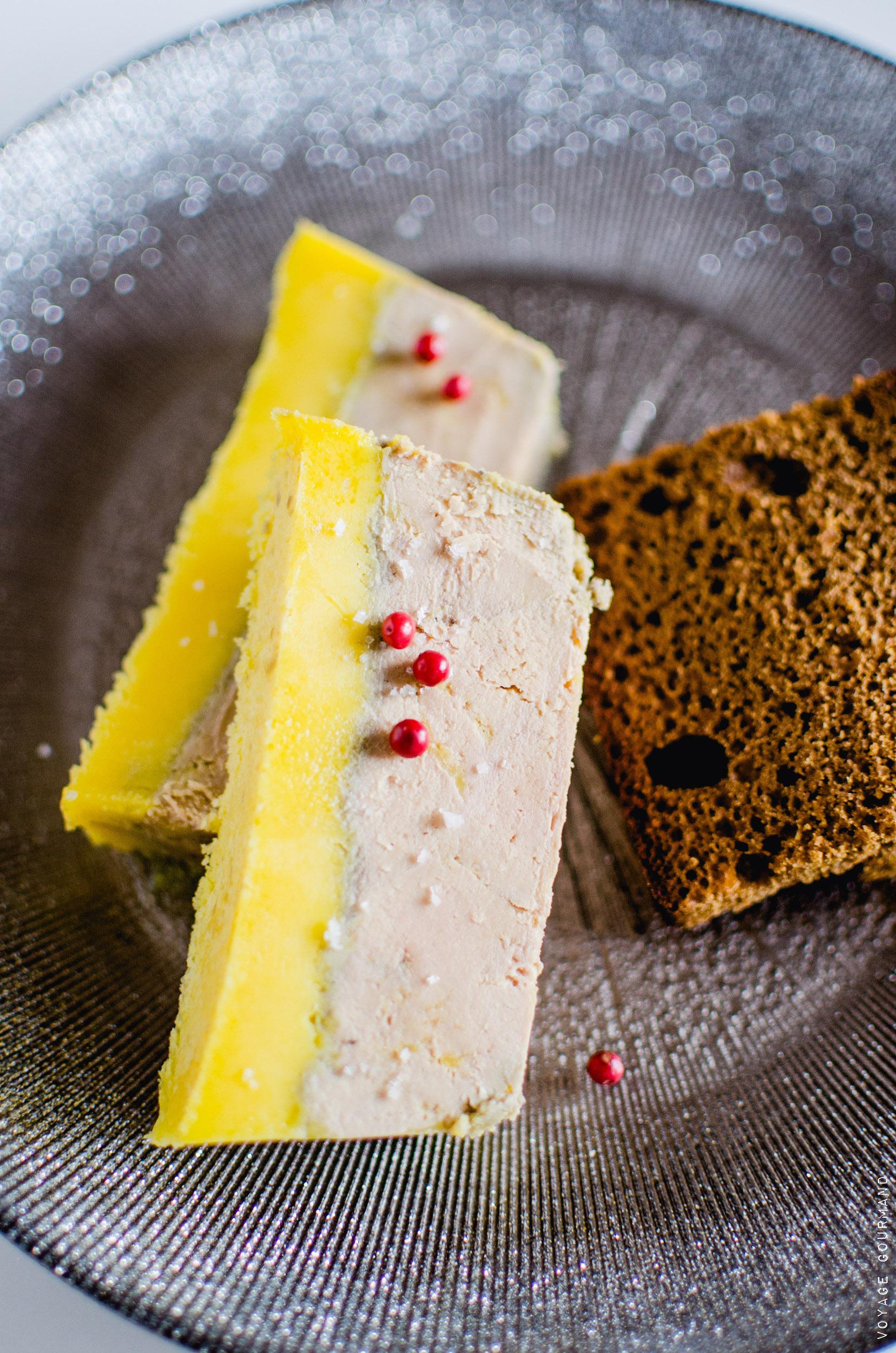 Foie gras terrine muscat armagnac