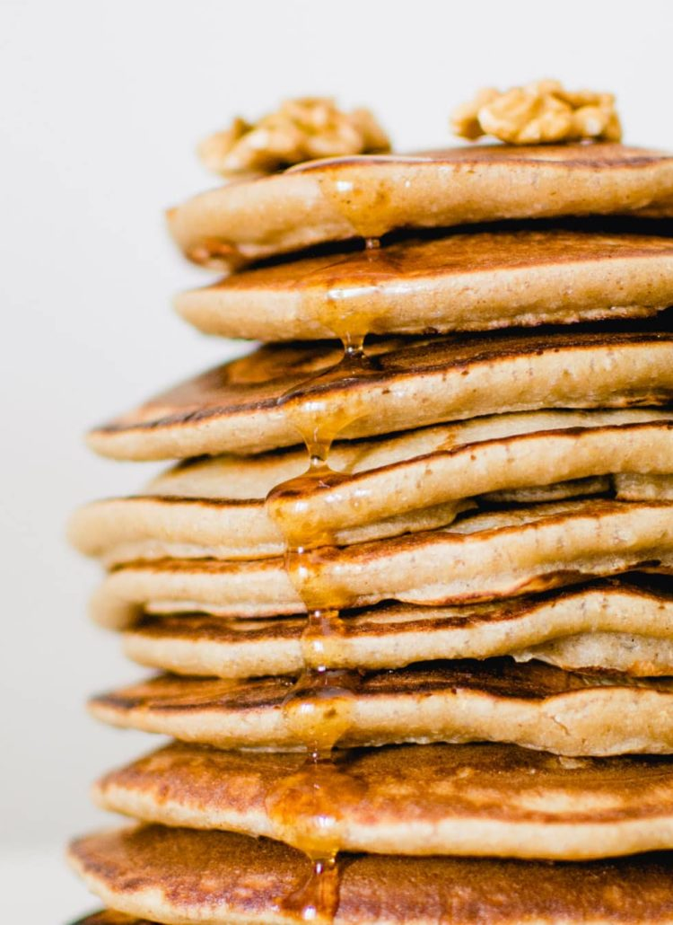 Pancakes IG bas à la farine d'orge mondé