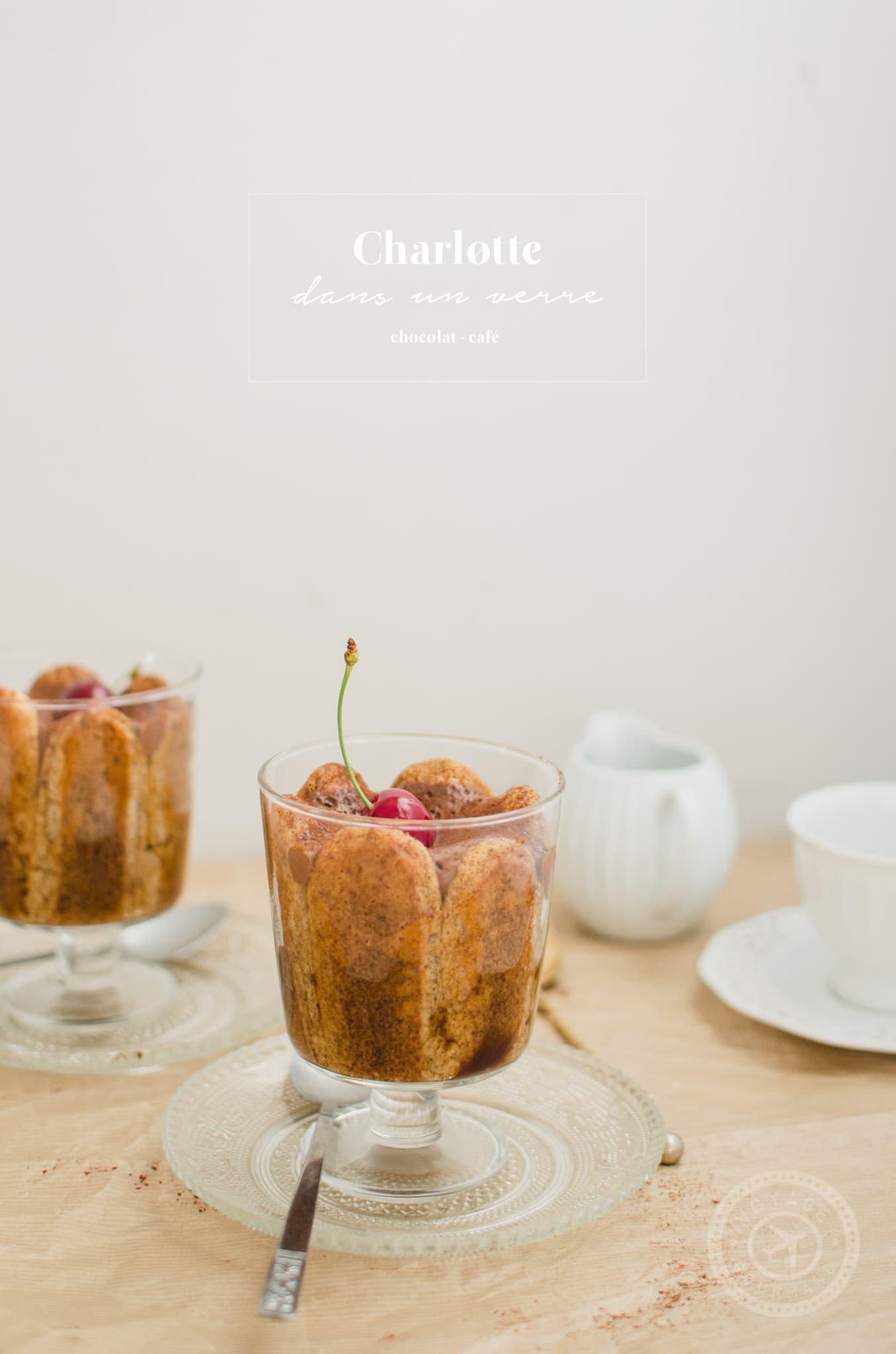 Charlotte chocolat-café au tofu soyeux (IG bas et vegan)