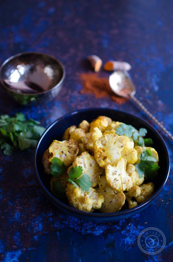 Chou fleur rôti aux épices garam masala