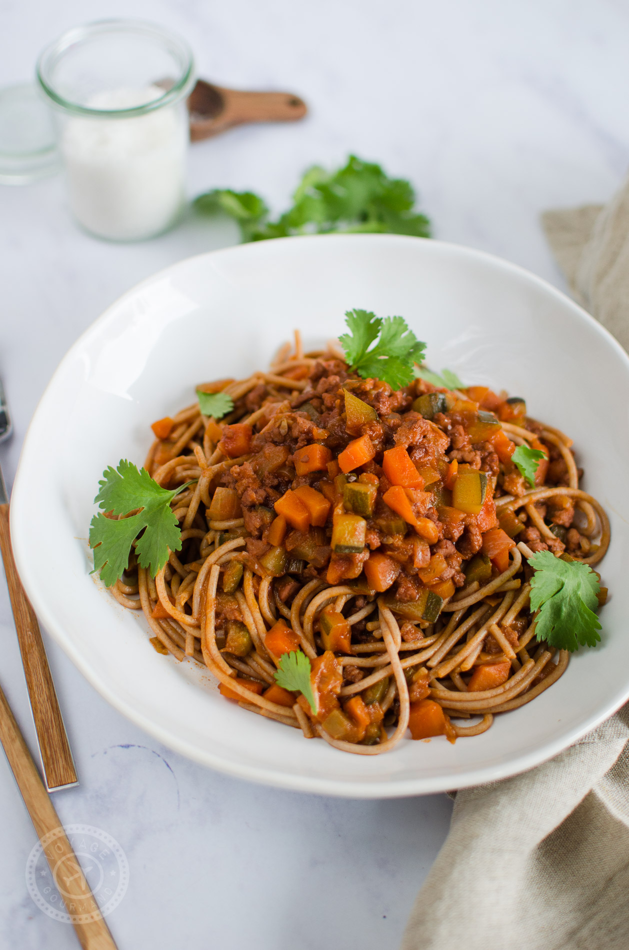 Spaghettis bolognaise, recette végétarienne