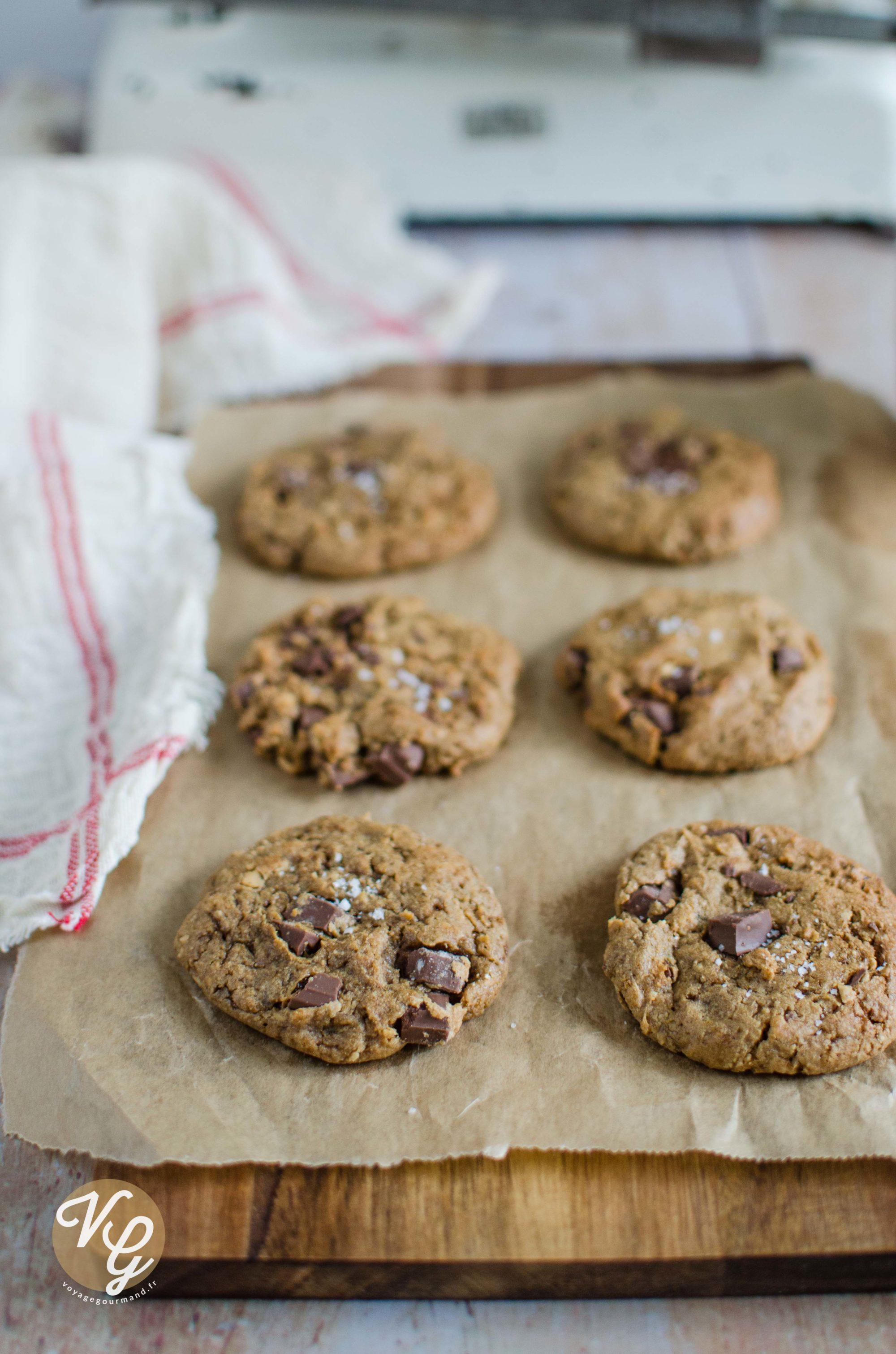 cookies vegan au chocolat noir et beurre de cacahu tes. Black Bedroom Furniture Sets. Home Design Ideas