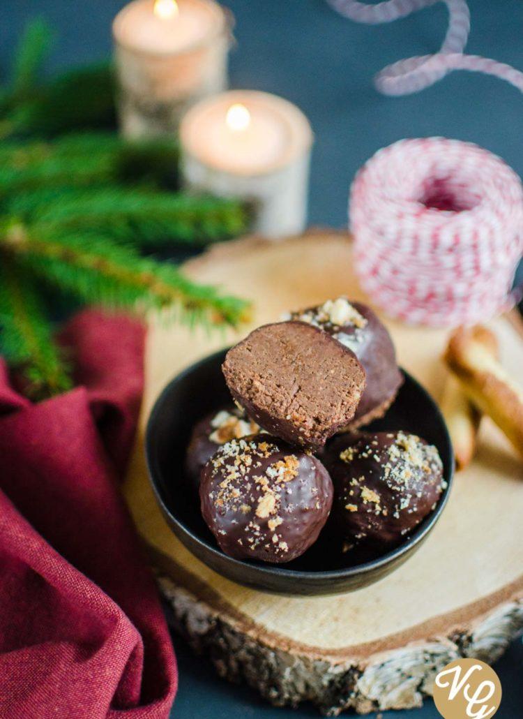 Rochers au chocolat et praliné